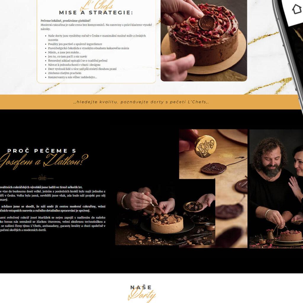 Strona internetowa torty